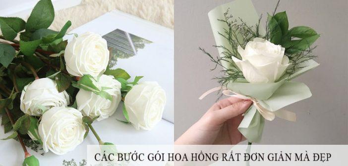 Các bước gói hoa hồng đẹp và rất đơn giản