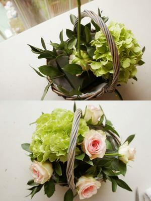 Cách cắm hoa giỏ elip