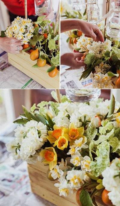 Cách cắm hoa mang màu sắc đồng quê