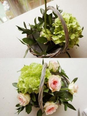 Cách cắm hoa hồng đan xen hoa đồng tiền, cẩm tú cầu đẹp 1