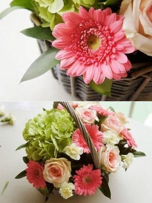 Cách cắm hoa hồng đan xen hoa đồng tiền, cẩm tú cầu đẹp 3