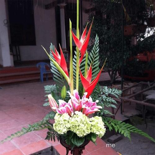 Hướng dẫn cách cắm lãng hoa 2 tầng đơn giản 3