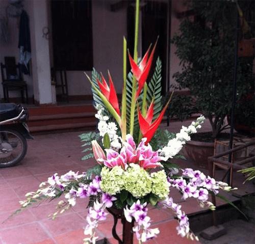 Hướng dẫn cách cắm lãng hoa 2 tầng đơn giản 4