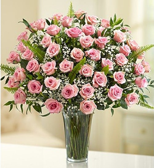 Cách cắm hoa hồng kết hợp lá dương xỉ đẹp hút hồn 9