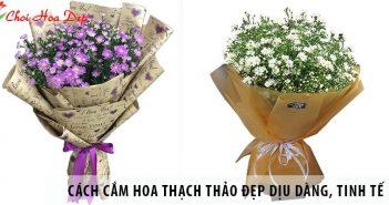 Cách cắm hoa thạch thảo đẹp dịu dàng, tinh tế