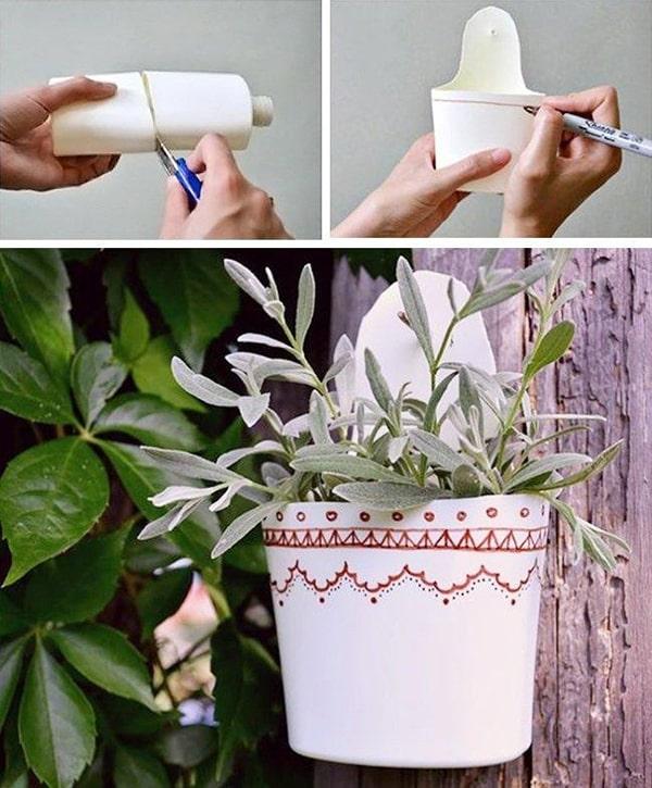 Hướng dẫn cách tự làm chậu hoa để trồng cây cảnh, hoa cảnh 6