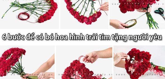 6 bước để có bó hoa hình trái tim tặng người yêu cực đẹp