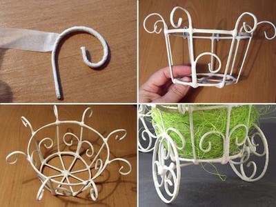 Sáng tạo lọ cắm hoa: Cách tự chế xe đạp tí hon thành lẵng hoa