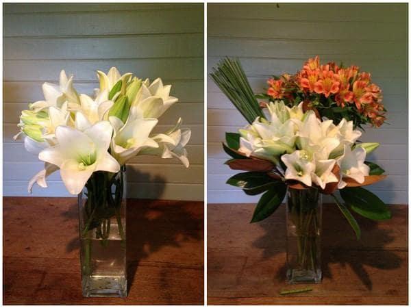 Cắm hoa loa kèn kết hợp với các loại hoa khác 1