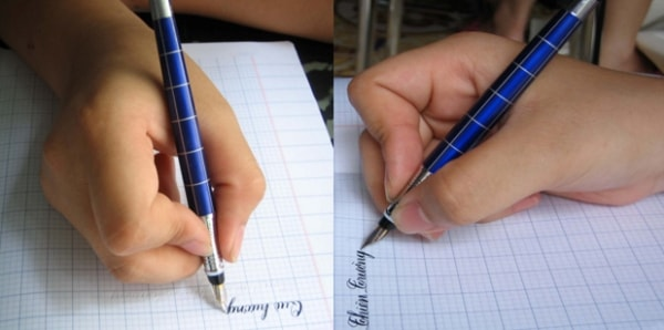 Phải cầm bút đúng cách