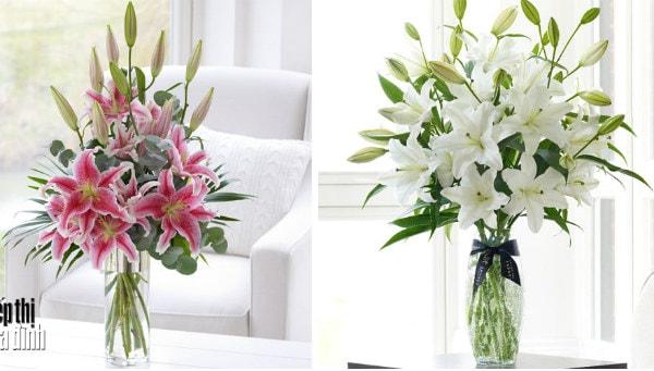 Gợi ý cách cắm hoa ly