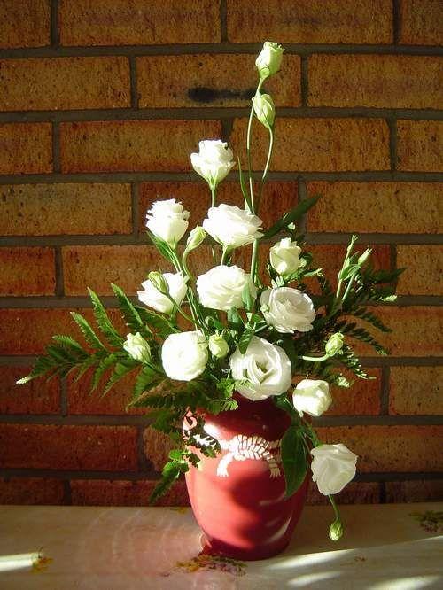 Cắm hoa hồng theo hình tam giác