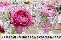 4 cách cắm hoa hồng đẹp miễn chê cho người không chuyên