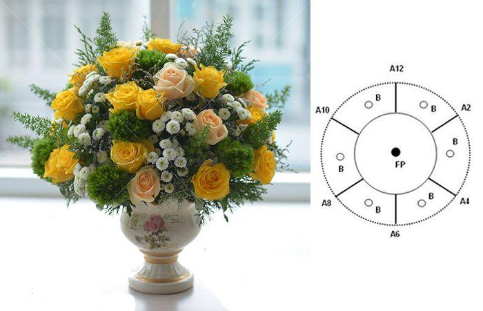 Cắm hoa 20/10 theo hình mái vòm