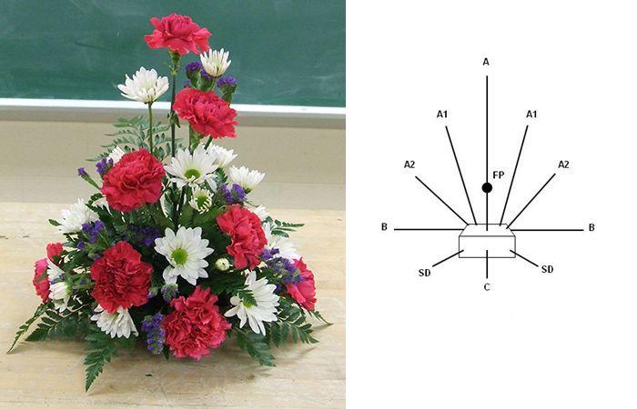Cắm hoa 20/10 theo hình tam giác