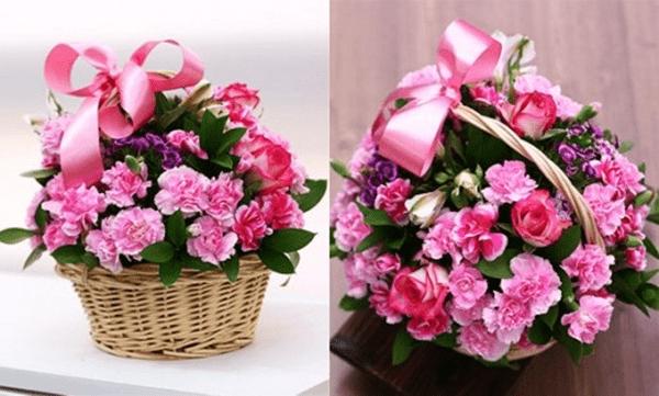 Hoàn thành giỏ hoa quà tặng ngày 20/10