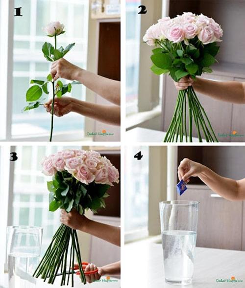 Cách cắm hoa hồng lọ cao để bàn đẹp mê ly 1