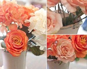 Cắm hoa hồng lớn vào miếng xốp