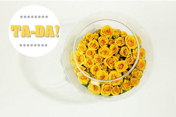 Bình hoa hồng vàng cho ngày 8-3