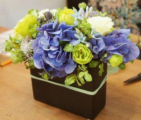 Lẵng hoa cẩm tú cầu để bàn đẹp cho ngày 8-3