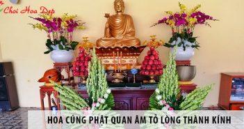 Những loại hoa cúng Phật quan âm tỏ lòng thành kính nhất