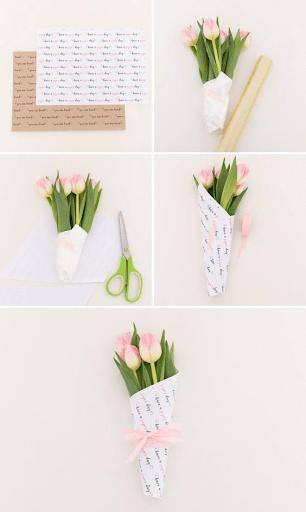 Bó hoa tulip xinh xắn thay lời tỏ tình lãng mạn, nhẹ nhàng