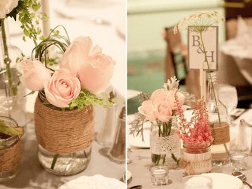 Cắm hoa trong chai thủy tinh
