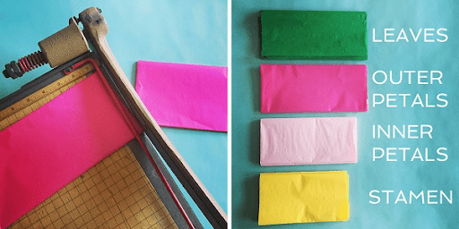 Nguyên liệu giấy tissue nhiều màu