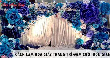 Hướng dẫn 3 cách làm hoa giấy trang trí đám cưới đơn giản