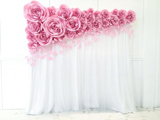 Hoa hồng giấy làm font chụp hình