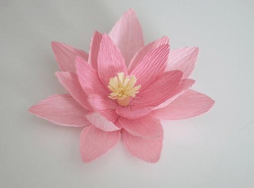 Hoa sen bằng giấy nhún