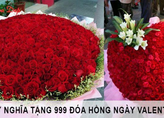 Tặng 999 đóa hồng cho bạn gái dịp Valentine có ý nghĩa gì?