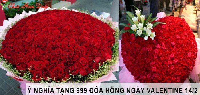 Ý nghĩa 999 đóa hồng tặng bạn gái Valentine