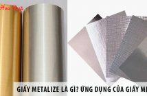 Giấy metalize là gì? Ứng dụng của giấy metalize