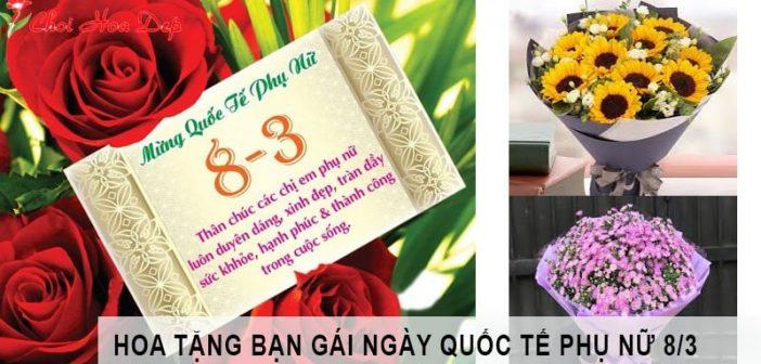 Các loại hoa tặng bạn gái ngày 8/3