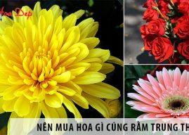 Nên mua hoa gì cúng rằm trung thu? Mâm cỗ gồm những gì?