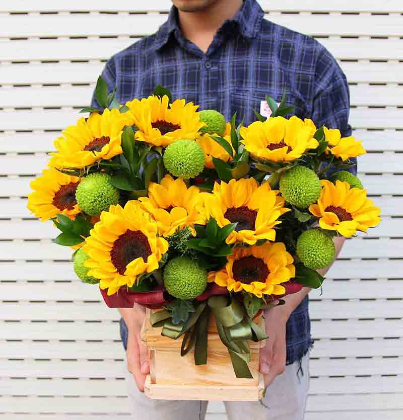 Tặng hoa hướng dương dịp khai trương mang đến những điều may mắn, niềm hạnh phúc và sự thành công