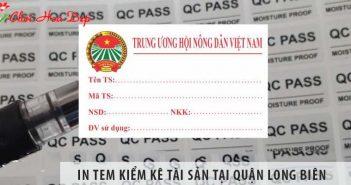 Địa chỉ in tem kiểm kê tài sản giá rẻ tại Quận Long Biên